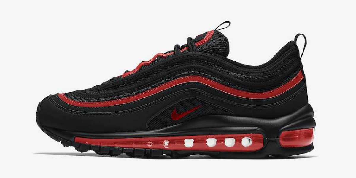 2020 Nike Air Max 97 GS Black Red Will Release Soon