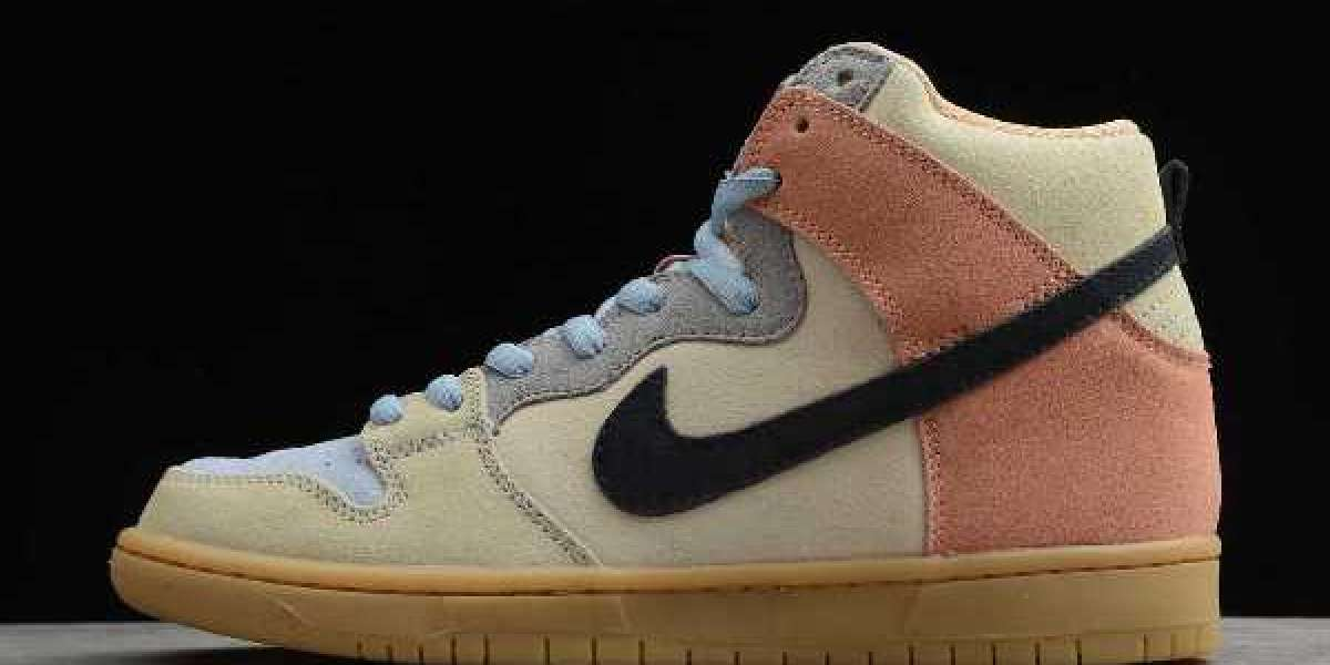 "Cheap Nike SB Dunk High ""Spectrum"" Particle Grey/Black-Terra Blush CN8345-001"