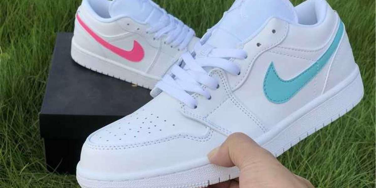 Air Jordan 1 Low GS White Neon For Girls CW7035-100