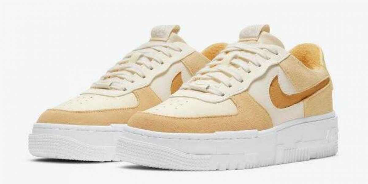 DH3856-100 Nike Air Force 1 Pixel Sail Tan Will Arrive Early 2021