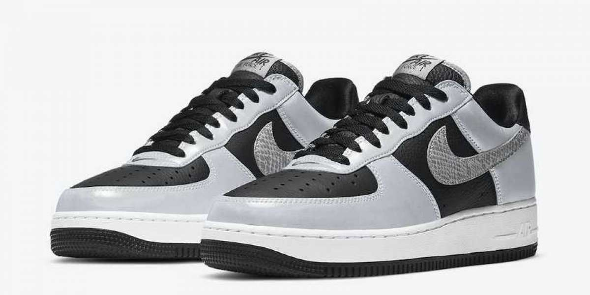 "Where To Buy 2021 Nike Air Force 1 B ""3M Snake"" Black/Silver-White DJ6033-001"