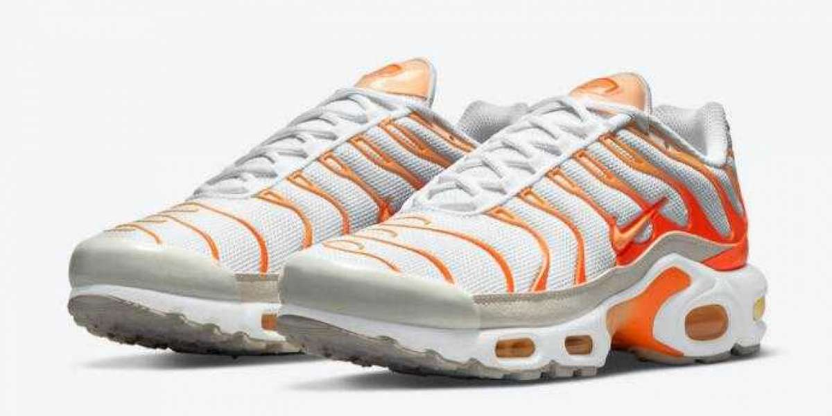 "2021 Nike Air Max Plus Releasing ""White Orange"" Colorway"