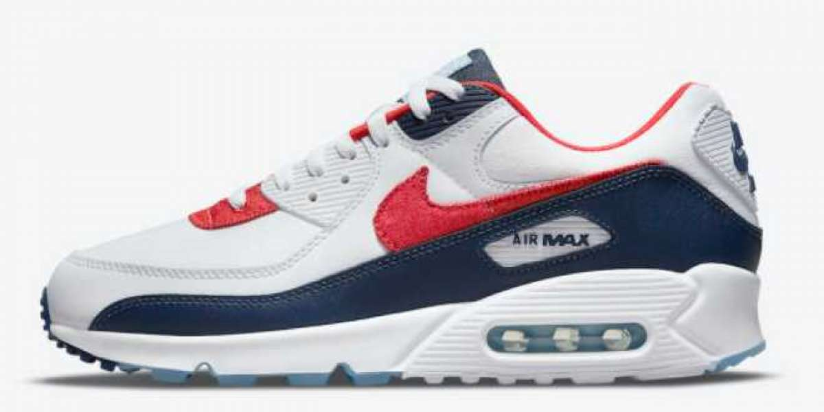 "New Nike Air Max 90 ""USA Denim"" Sport Shoes DJ5170-100"
