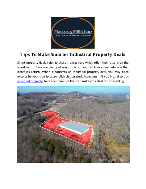 Tips To Make Smarter Industrial Property Deals