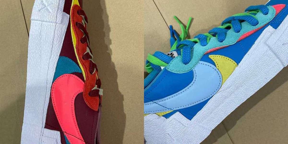 Latest 2021 sacai x KAWS x Nike Blazer Low Sneakers