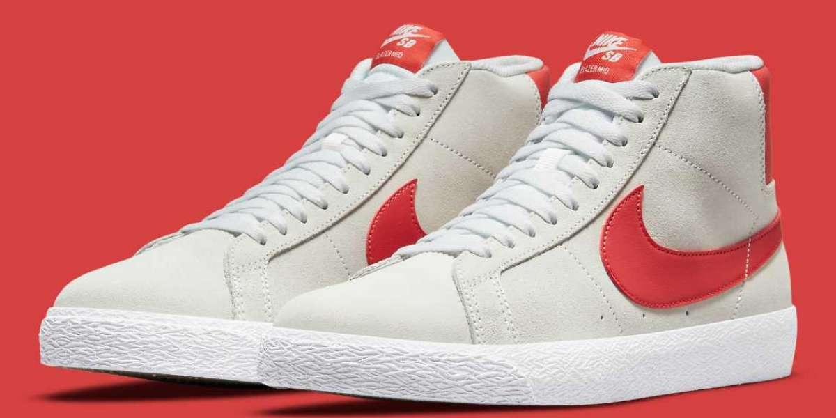 """864349-108 Nike SB Blazer Mid """"Lobster"""" will be released in October"""