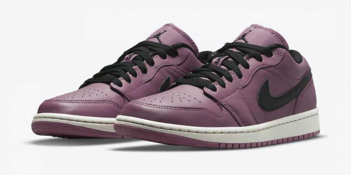 Latest 2021 Air Jordan 1 Low Magenta Black Lifestyle Shoes DC7268-500