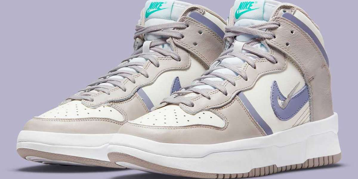 "2021 Latest Nike Dunk High Rebel ""Iron Purple"" Sail/Iron Purple-College Grey DH3718-101"